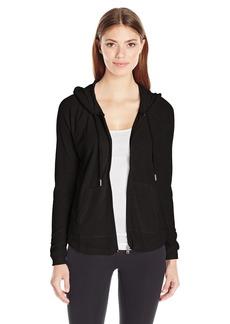 Calvin Klein Performance Women's Ruched Long Sleeve Zip Front Hoodie Jacket  S