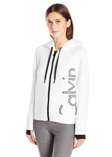 Calvin Klein Performance Women's Scuba Outline Logo Hoodie  L