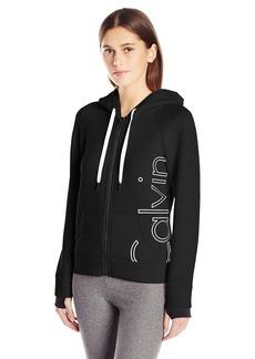Calvin Klein Performance Women's Scuba Outline Logo Hoodie  XL