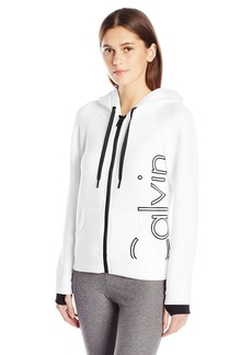 Calvin Klein Performance Women's Scuba Outline Logo Hoodie  XL