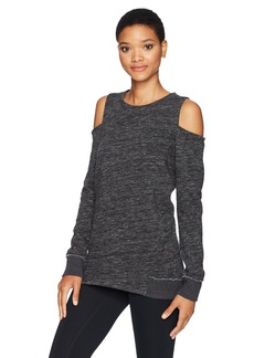 Calvin Klein Performance Women's Shadow Heather Cold Shoulder Pullover  S