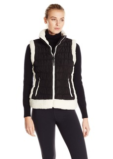 Calvin Klein Performance Women's Sherpa Trimmed Quilted Puff Vest
