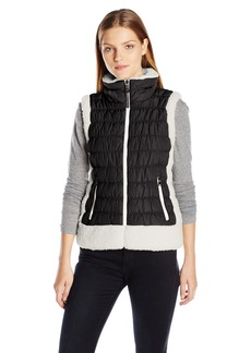 Calvin Klein Performance Women's Sherpa Trimmed Quilted Puff Vest  M