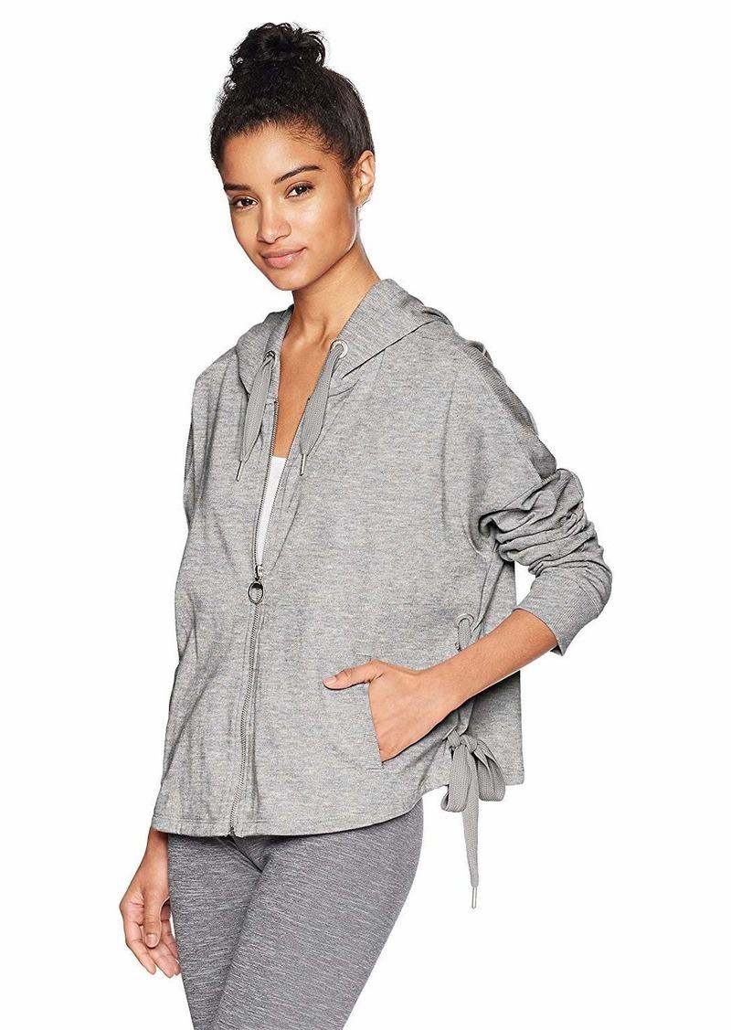 Calvin Klein Performance Women's Side tie Zip Hoodie  X Large