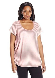 Calvin Klein Performance Women's Size Plus Cut Out Back Relaxed Tee