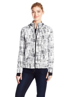 Calvin Klein Performance Women's Sketchbook Print Detachable Hood Jacket  L