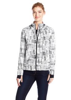 Calvin Klein Performance Women's Sketchbook Print Detachable Hood Jacket  S