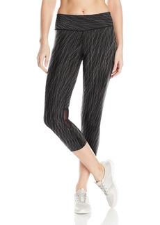 Calvin Klein Performance Women's Snake Charmer and Nova Glow Print Crop Tight  XL