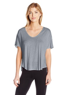 Calvin Klein Performance Women's Spacedye Jersey Tee with Inner T-Back  L
