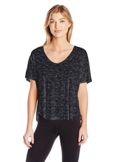 Calvin Klein Performance Women's Spacedye Jersey Tee with Inner T-Back  XL