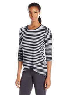 Calvin Klein Performance Women's Spliced Hem Stripe Tee