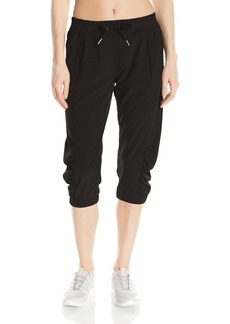 Calvin Klein Performance Women's Stretch Woven Crop Pant with Banded Cuffs  S
