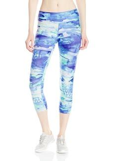 Calvin Klein Performance Women's Sun Salutations Print Capri Legging