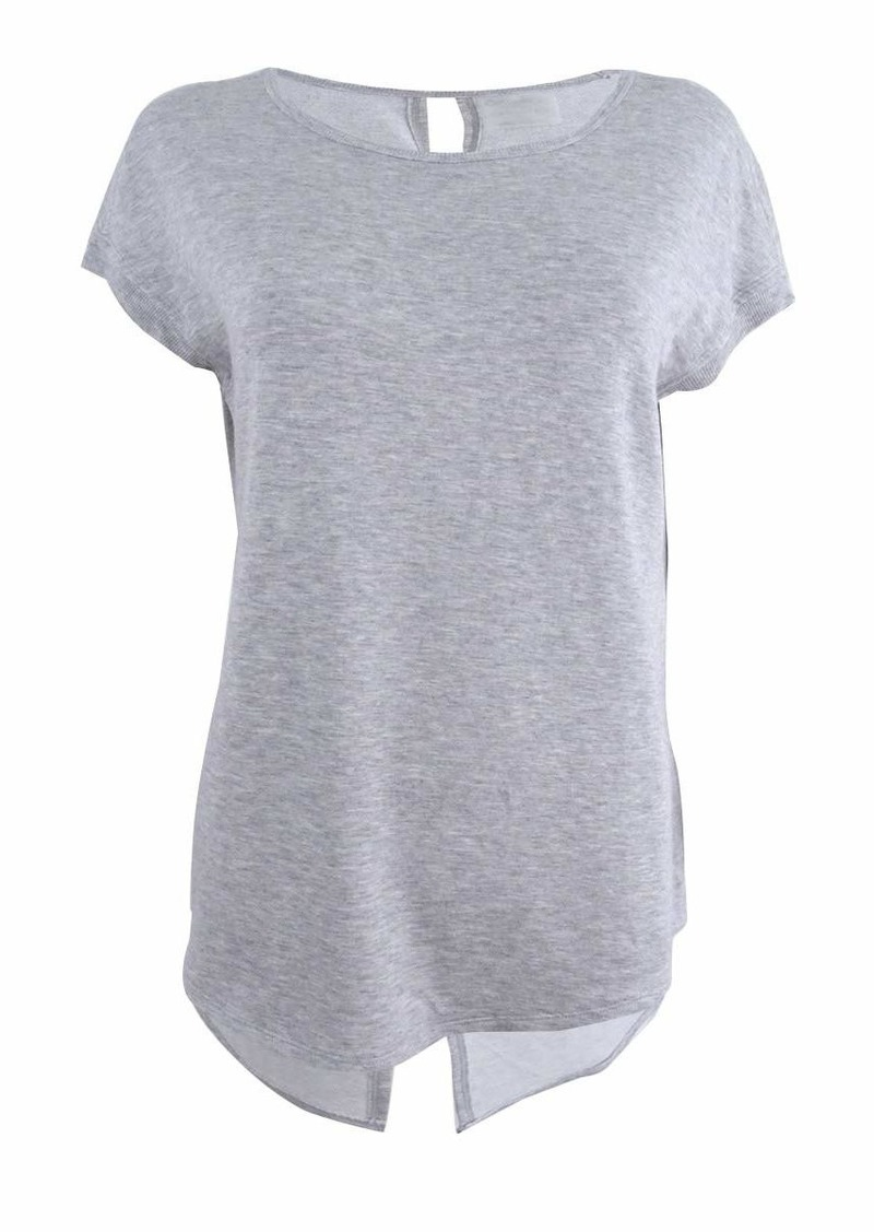 Calvin Klein Performance Women's T Sleeve Top with Keyhole Split Back  S