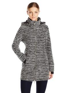 Calvin Klein Performance Women's Textured Knit Walker Coat  L