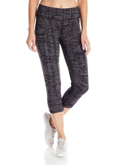 Calvin Klein Performance Women's Cross Hatch Textured Print Crop Legging