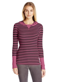 Calvin Klein Performance Women's Thermal Stripe Hooded Top
