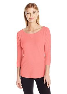 Calvin Klein Performance Women's Tic Tac Toe 3/4 Sleeve Raglan Shirttail Pullover  L