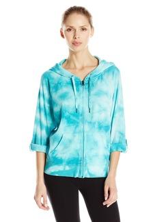 Calvin Klein Performance Women's Tie Dye Fleece Hooded Sweatshirt Jacket