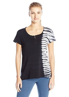 Calvin Klein Performance Women's Tie Dye Notch Neck Tee