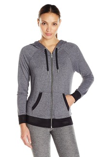 Calvin Klein Performance Women's Two-Fer Zip Hoodie  L