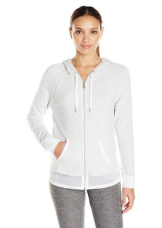 Calvin Klein Performance Women's Two-fer Zip Hoodie  M