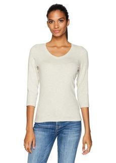 Calvin Klein Performance Women's V Neck 3/4 Sleeve Tee  S