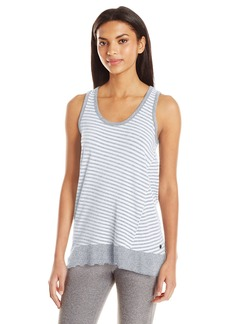 Calvin Klein Performance Women's Venice Beach Stripe Keyhole Back Tunic Tank  L