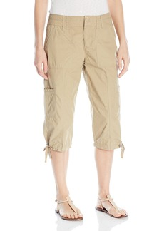 Calvin Klein Performance Women's Woven Cargo Crop Pant with Zipper Closing