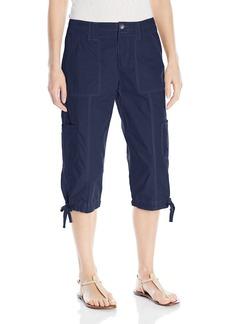 Calvin Klein Performance Women's Woven Cargo Crop Pant with Zipper Closing