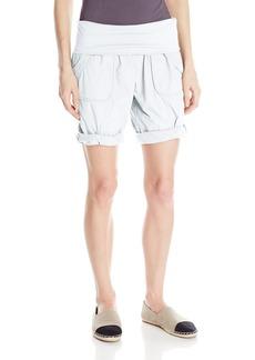 Calvin Klein Performance Women's Woven Rollover Waist Cargo Short