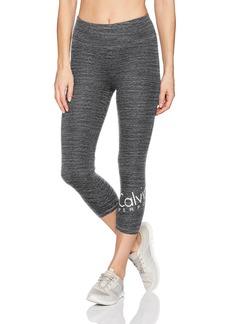 Calvin Klein Performance Women's Wrap Around Logo Crop Legging  S