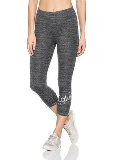 Calvin Klein Performance Women's Wrap Around Logo Crop Legging  XL