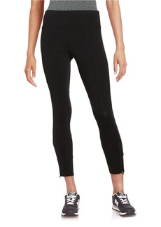 CALVIN KLEIN PERFORMANCE Zip-Accented Cropped Leggings