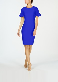 Calvin Klein Petal-Sleeve Sheath Dress