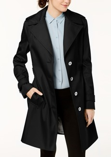 Calvin Klein Petite Belted Hooded Trench Coat