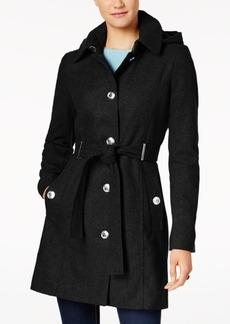 Calvin Klein Petite Belted Hooded Walker Coat
