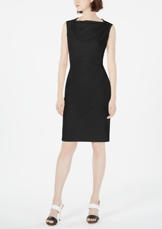 Calvin Klein Petite Boat-Neck Sheath Dress