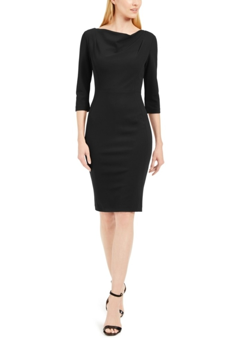 Calvin Klein Cowl-Neck Sheath Dress