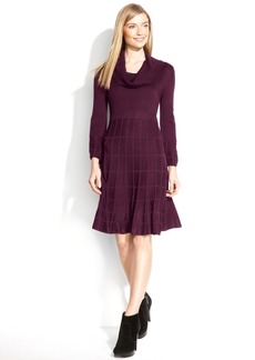 Calvin Klein Petite Cowl-Neck Sweater Dress