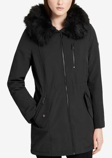 Calvin Klein Petite Faux-Fur-Lined Coat