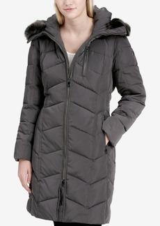 Calvin Klein Petite Faux-Fur-Trim Puffer Coat