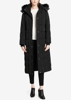 Calvin Klein Petite Faux-Fur-Trimmed Maxi Puffer Coat