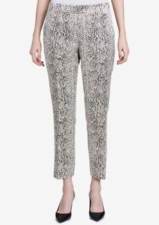 Calvin Klein Petite Metallic Snake-Embossed Pants
