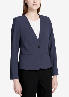 Calvin Klein Petite One-Button Blazer