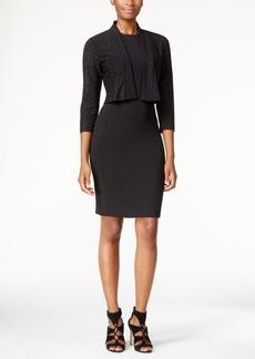 Calvin Klein Petite Open-Front Sparkle Shrug
