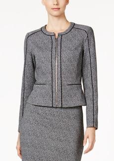 Calvin Klein Tweed Zip-Front Jacket