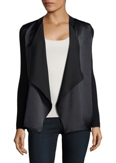 Calvin Klein Petite Two-Tone Open-Front Jacket