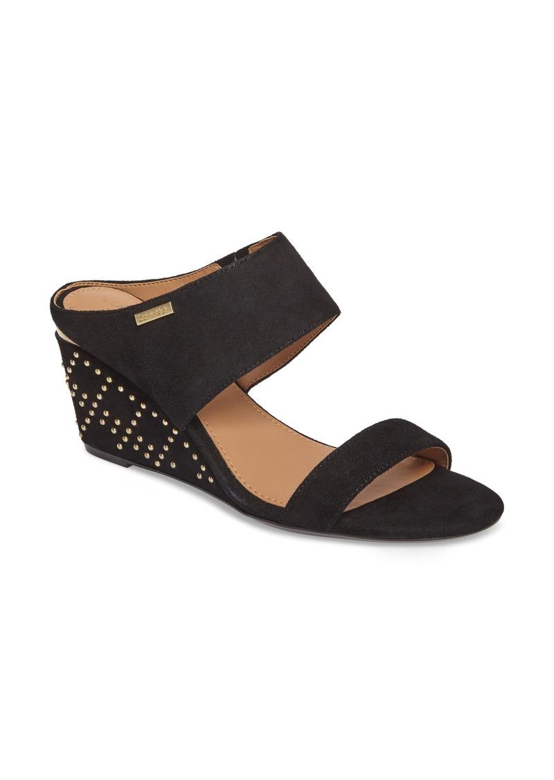 0f643c24441 Calvin Klein Calvin Klein Phyllis Studded Wedge Sandal (Women)