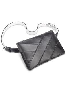 Calvin Klein Pieced Leather Belt Bag